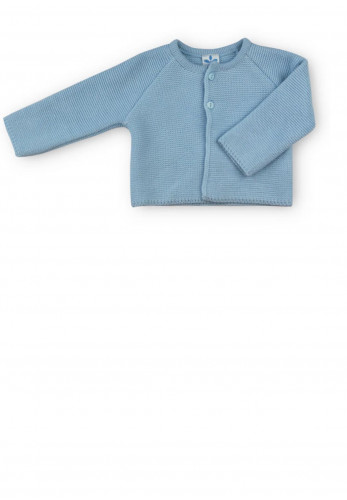 Sardon Baby Boys Knit Bolero Cardigan, Blue
