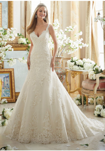 Mori Lee 2890 Wedding Dress Ivory UK Size 16