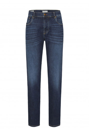 Bugatti Heritage Handcrafted Stretch Straight Fit Jeans, Blue