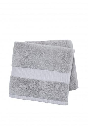Peacock Blue Hotel Savoy Towels, Silver
