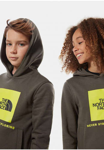 The North Face Kids Box Logo Hoodie, Green