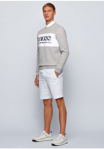 Hugo Boss Salbo Colour-Block Sweater, Grey