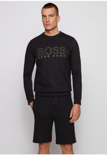 Hugo Boss Salbo Iconic Crew Neck Sweater, Black