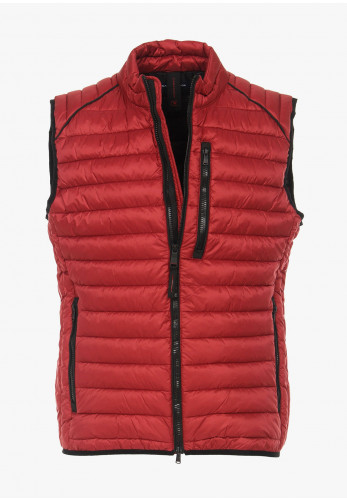 Casa Moda Quilted Gilet, Burnt Red