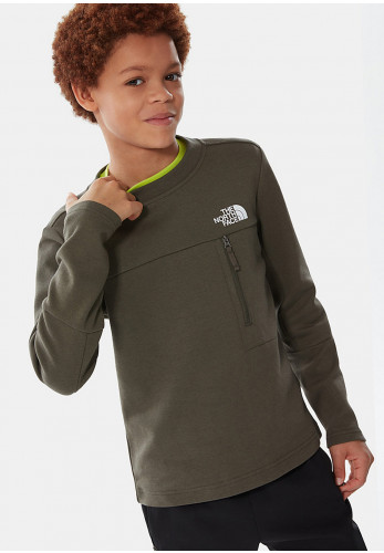 The North Face Boys Slacker Crew Jumper, Green