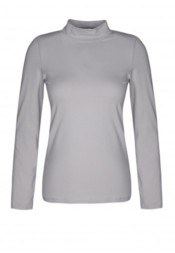 Dolcezza Roll Neck Top, Silver