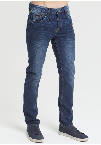 Diesel Mens Austin Tapered Fit Jeans, Blue Wash