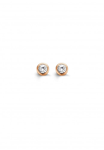Ti Sento Mini Zirkonia Stud Earrings, Rose Gold