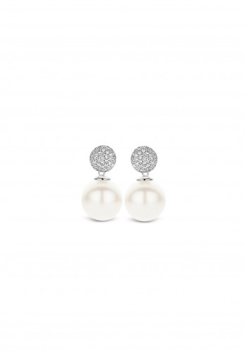 Ti Sento Pearl Drop Stud Earrings, Silver
