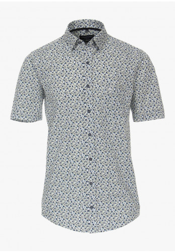 Casa Moda Short Sleeve Flower Print Shirt, Multi