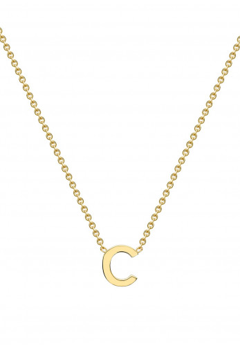 9 Carat Gold Initial C Necklace, Gold