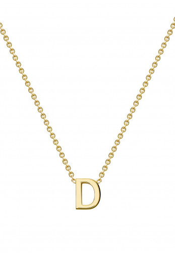 9 Carat Gold Initial D Necklace, Gold