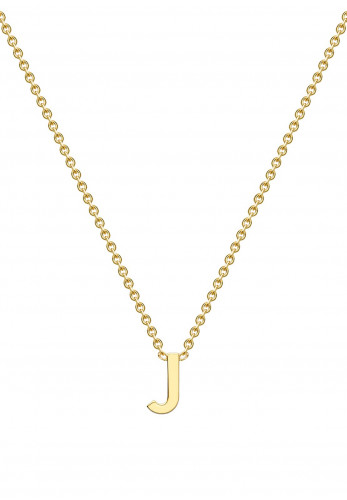 9 Carat Gold Initial J Necklace, Gold