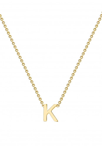 9 Carat Gold Initial K Necklace, Gold