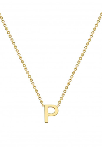 9 Carat Gold Initial P Necklace, Gold