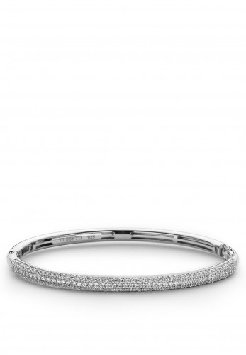 Ti Sento Zirconia Bangle, Silver