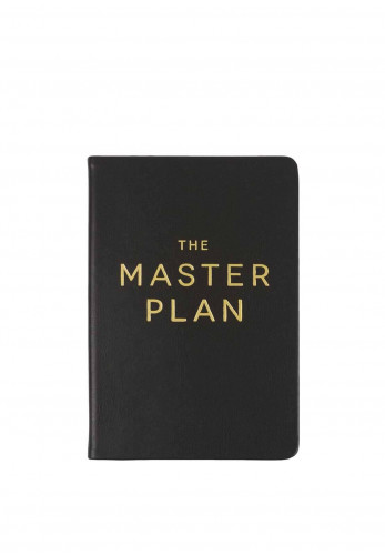 Éccolo Lined Journal The Master Plan, Black