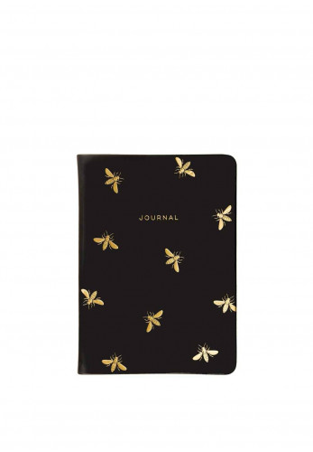 Éccolo Lined Journal Wasp Detail, Black & Gold
