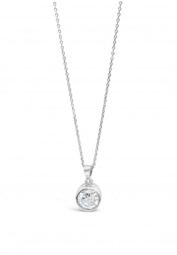 Absolute Kids Round Diamante Necklace, Silver
