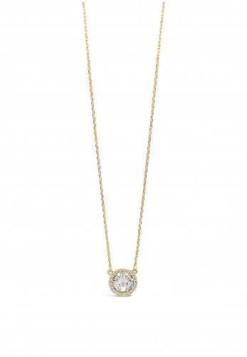 Absolute Gold Diamante Cluster Circle Necklace, JP247GL