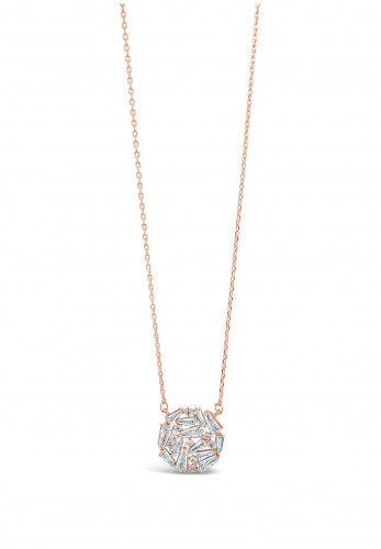 Absolute Rose Gold Cluster Round Pendant Necklace, JP245RS