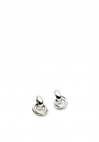 Absolute Interlinked Circles Earrings, Silver