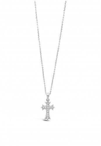 Absolute Holy Communion Silver Cross Necklace, HCC100