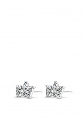 Absolute Holy Communion Silver Crown Earrings, HCE418