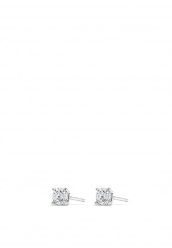 Absolute Holy Communion Silver Diamante Stud Earrings, HCE426