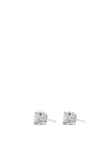Absolute Holy Communion Silver Diamante Stud Earrings, HCE428