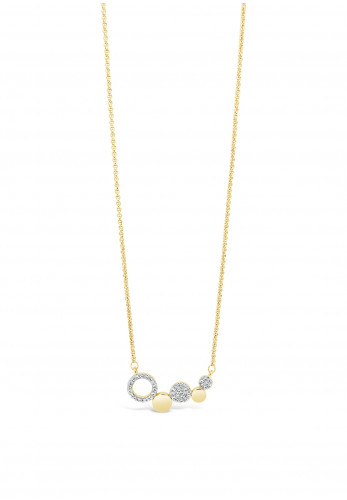 Absolute Gold Linking Discs Necklace, JP237GL