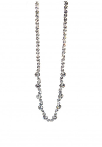 Absolute Crystal Stone Necklace, Silver