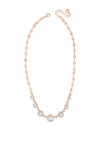 Absolute Rose Gold Circular Diamante Cluster Necklace, N2055RS