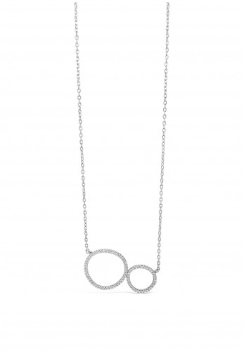 Absolute Sterling Silver Double Ring Pendant, SP144SL
