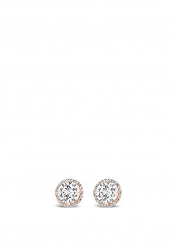 Absolute Rose Gold Cluster Diamante Stud Earrings, E2055RS