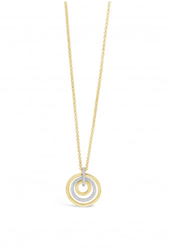 Absolute Gold Triple Ring Pendant Necklace, JP241GL