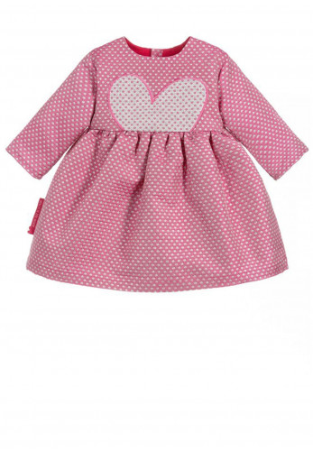 Agatha Ruiz De La Prada Girls Polka Dot Dress, Fuchsia