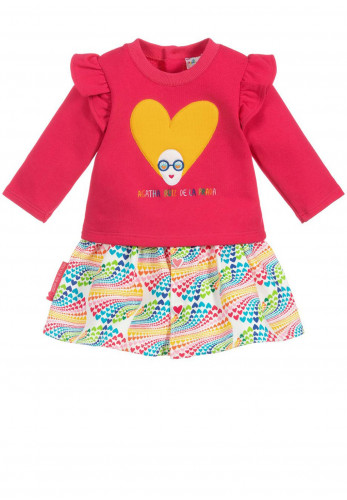 Agatha Ruiz De La Prada Girls Top and Skirt, Pink Multi
