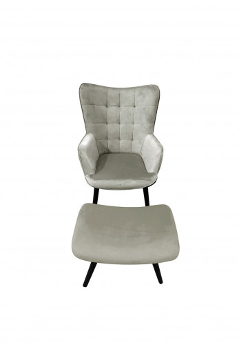 Scatter Box Alexa Chair & Stool, Grey