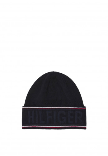 Tommy Hilfiger Hilfiger Logo Beanie Hat, Corporate