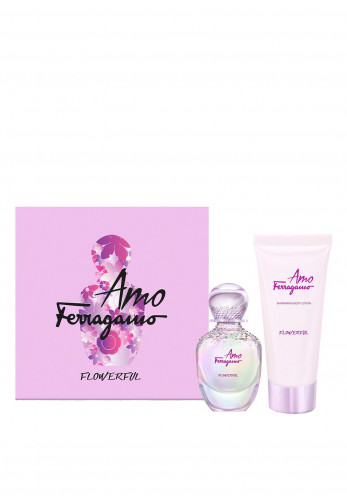 Salvatore Ferragamo Flowerful Gift Set, 50ml Eau De Toilette 100ml Body Lotion