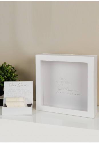 Amore Wedding Day Message Box, White