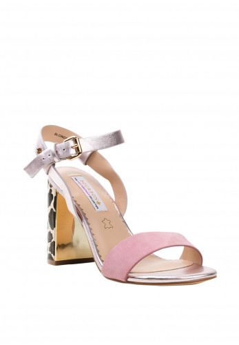 Amy Huberman Blonde Crazy Chucky Block Sandals, Opal Mix