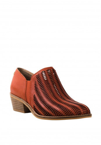 Amy Huberman Vivacious Laser Cut Shoes, Burnt Orange