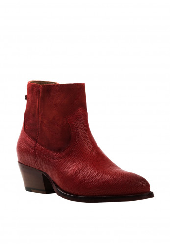 Amy Huberman Mr And Mrs Smith Western Boots, Red