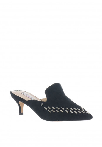 Amy Huberman Leap Year Suede Mules, Black