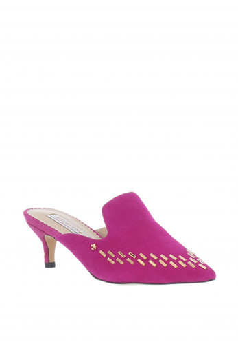 Amy Huberman Leap Year Suede Mules, Pink