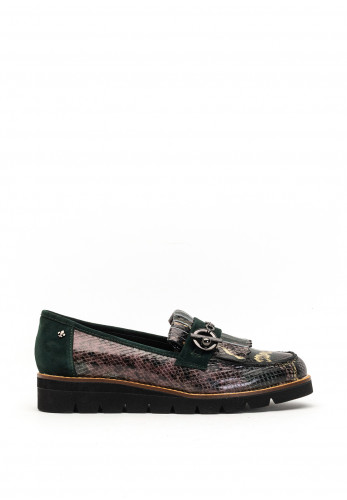 Amy Huberman Jessica James Reptile Loafers, Green