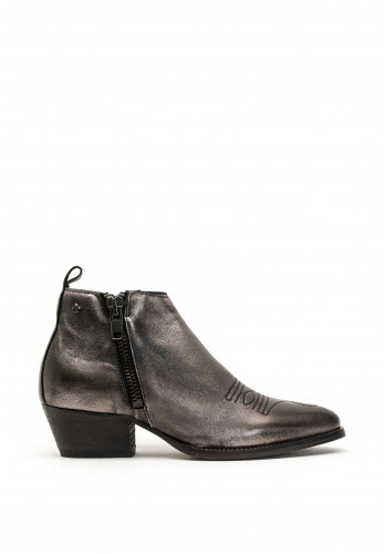 Amy Huberman Notting Hill Metallic Embroidered Boots, Grey
