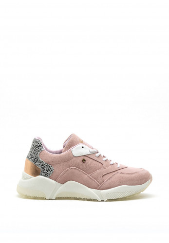 Amy Huberman Scandal Chunky Suede Trainer, Pink